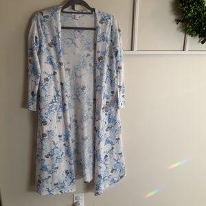 Lularoe  small long kimono  blue floral  sarah